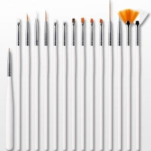 different nail art brushes